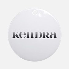 Kendra Carved Metal Round Ornament