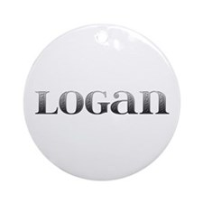 Logan Carved Metal Round Ornament