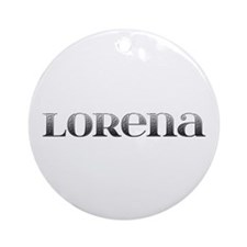 Lorena Carved Metal Round Ornament