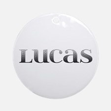 Lucas Carved Metal Round Ornament
