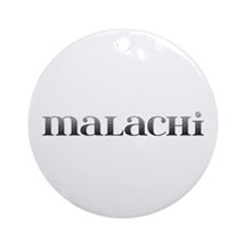 Malachi Carved Metal Round Ornament