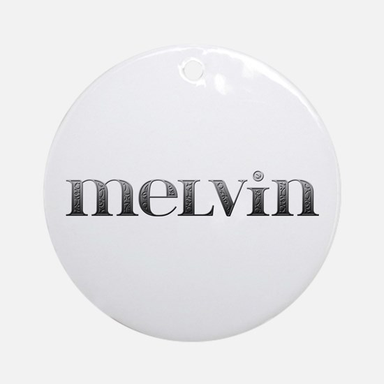Melvin Carved Metal Round Ornament