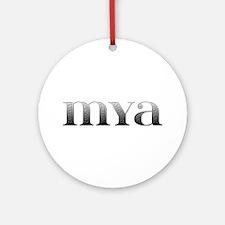 Mya Carved Metal Round Ornament