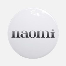 Naomi Carved Metal Round Ornament