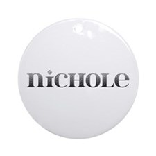 Nichole Carved Metal Round Ornament