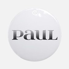 Paul Carved Metal Round Ornament