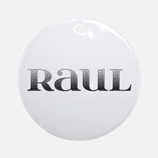 Raul Carved Metal Round Ornament