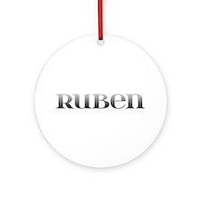 Ruben Carved Metal Round Ornament