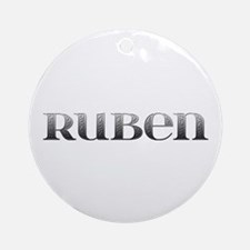 Ruben Carved Metal Round Ornament