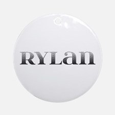 Rylan Carved Metal Round Ornament
