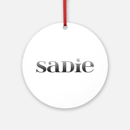 Sadie Carved Metal Round Ornament