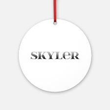 Skyler Carved Metal Round Ornament