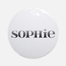 Sophie Carved Metal Round Ornament
