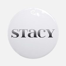 Stacy Carved Metal Round Ornament