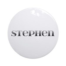Stephen Carved Metal Round Ornament