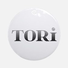 Tori Carved Metal Round Ornament