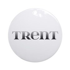 Trent Carved Metal Round Ornament