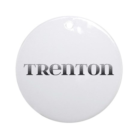 Trenton Carved Metal Round Ornament