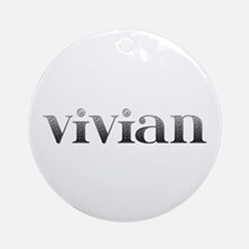 Vivian Carved Metal Round Ornament