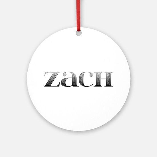Zach Carved Metal Round Ornament