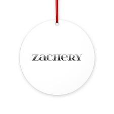 Zachery Carved Metal Round Ornament