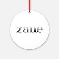 Zane Carved Metal Round Ornament