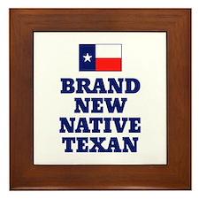 Native Texan Baby Framed Tile