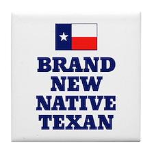 Native Texan Baby Tile Coaster