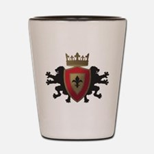 Medieval Lion Heraldry Shot Glass