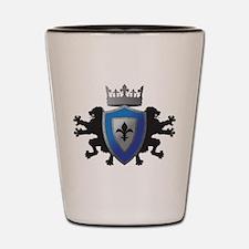 Medieval Lion Heraldry Shot Glass