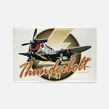 Thunderbolt P-47 Rectangle Magnet
