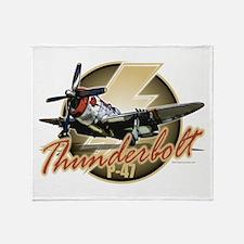 Thunderbolt P-47 Throw Blanket