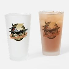 Thunderbolt P-47 Drinking Glass