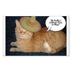 Cinco de Mayo Gifts Sticker (Rectangle)