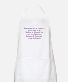 Imagine White BBQ Apron