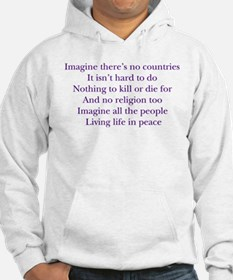 Imagine White Hoodie