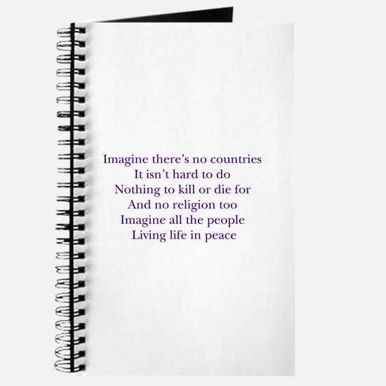 Imagine White Journal