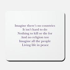 Imagine White Mousepad