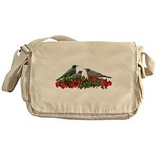 Robins in Berries Messenger Bag