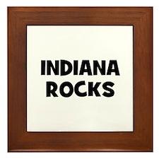INDIANA  ROCKS Framed Tile