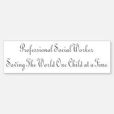 Professional Social Worker Bumper Bumper Bumper Sticker
