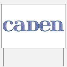 Caden Blue Glass Yard Sign