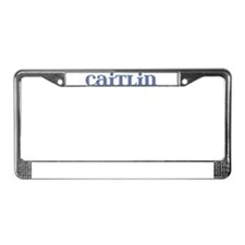 Caitlin Blue Glass License Plate Frame