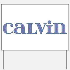 Calvin Blue Glass Yard Sign