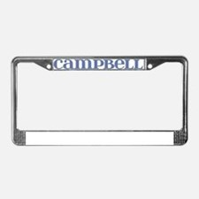 Campbell Blue Glass License Plate Frame
