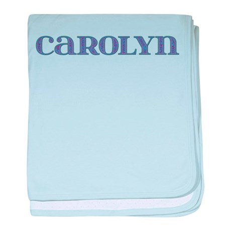 Carolyn Blue Glass baby blanket