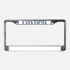 Cayden Blue Glass License Plate Frame