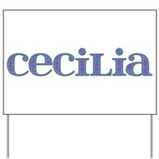 Cecilia Blue Glass Yard Sign