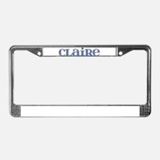 Claire Blue Glass License Plate Frame