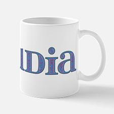 Claudia Blue Glass Mug